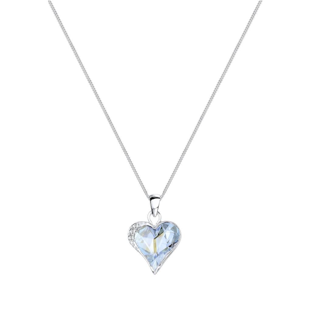 Elli Collierkettchen »Herz Love Kristalle Silber«
