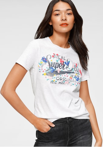 Superdry Print - Shirt »REAL ORIGINALS FLORAL TEE« kaufen