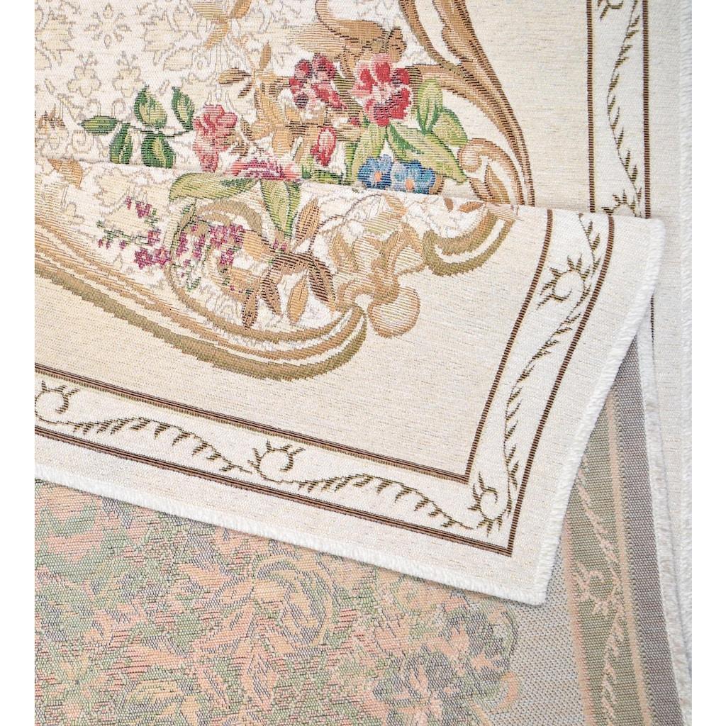 THEKO Bettumrandung »Flomi Floral«, Bettvorleger, Läufer-Set für das Schlafzimmer, gewebt, Blumen Design