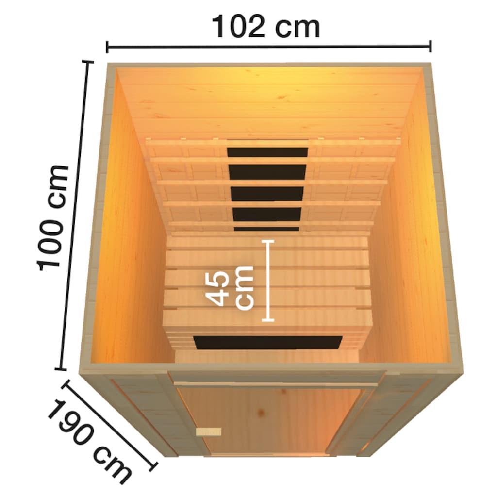 weka Infrarotkabine »Provoo 1«, 19 mm, geeignet für 1 Person