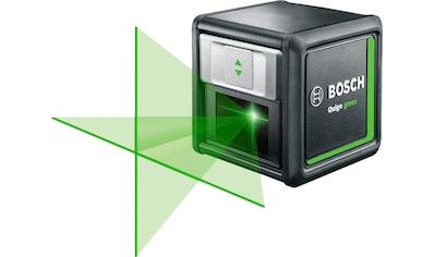 BOSCH Kreuzlinienlaser »Quigo green«, 1,5 V, 500 - 540 Nm, inkl. 2x 1,5 V Batterien (AAA) kaufen