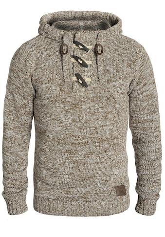 Solid Kapuzenpullover »Pryce«, Strickpulli mit Knebelverschluss am Kragen kaufen