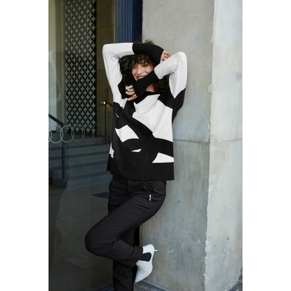 Aniston SELECTED Strickpullover, mit modisch kurzem Stehkragen