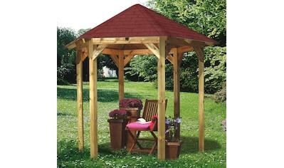 Karibu Holzpavillon »Lissabon«, (Set), BxT: 299x260 cm, inkl. Dachschindeln und... kaufen