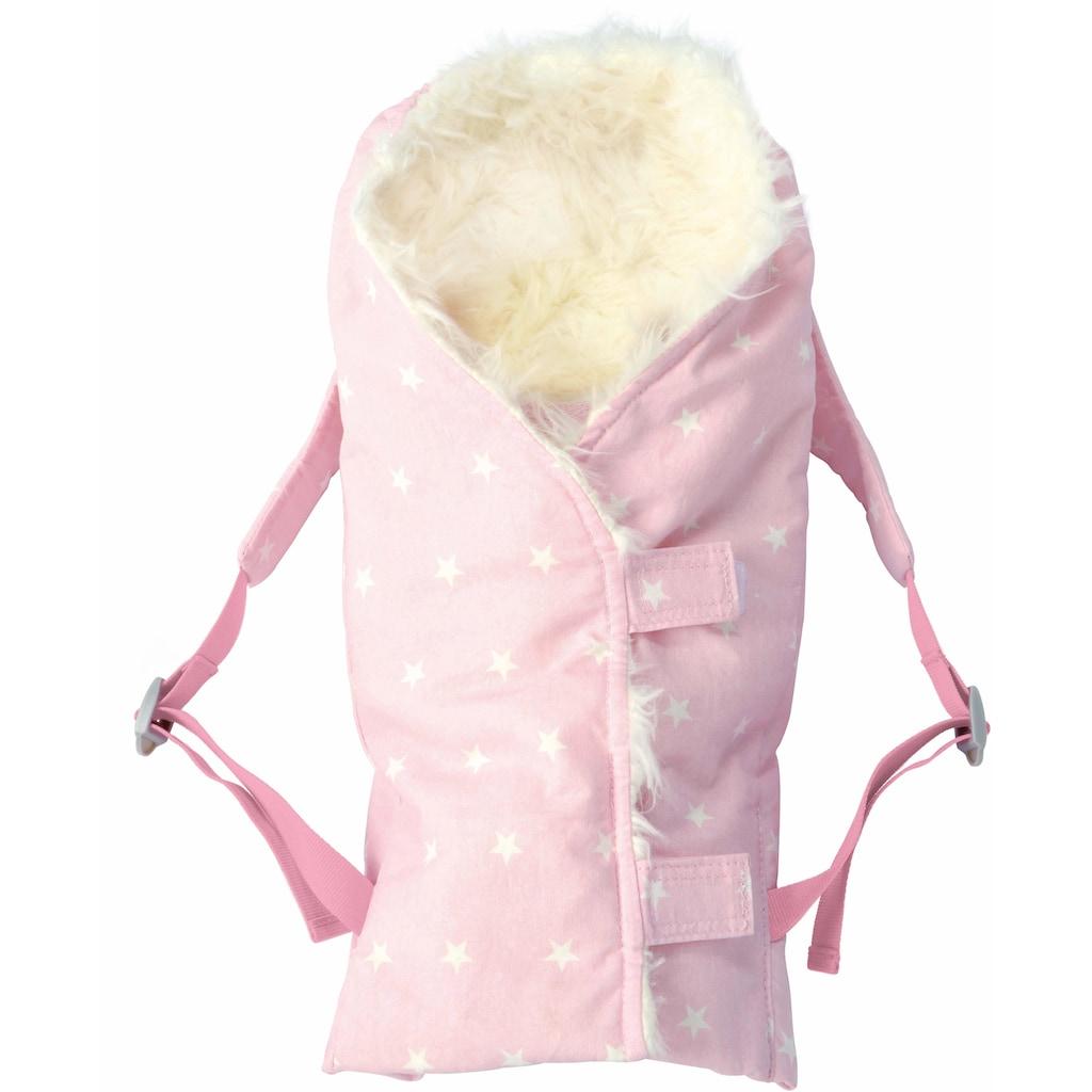 Käthe Kruse Puppen Wickeltasche »Puppentrage Fell rosa«