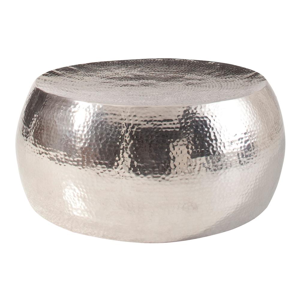 Home affaire Couchtisch »Aluci«, aus schönem Aluminium, in Hammerschlag-Optik, Höhe 29,5 cm