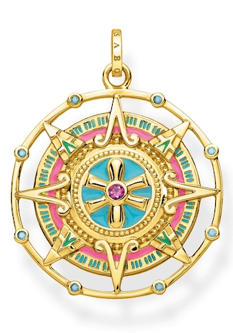THOMAS SABO Kettenanhänger »Amulett, PE843-973-7«, mit synth. Korund und Glassteinen kaufen