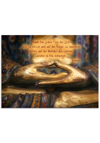 Artland Glasbild »Weisheit«, Religion, (1 St.) kaufen