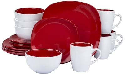 """Retsch Arzberg Kombiservice """"Nova Square Red"""" (16 - tlg.), Steinzeug kaufen"""