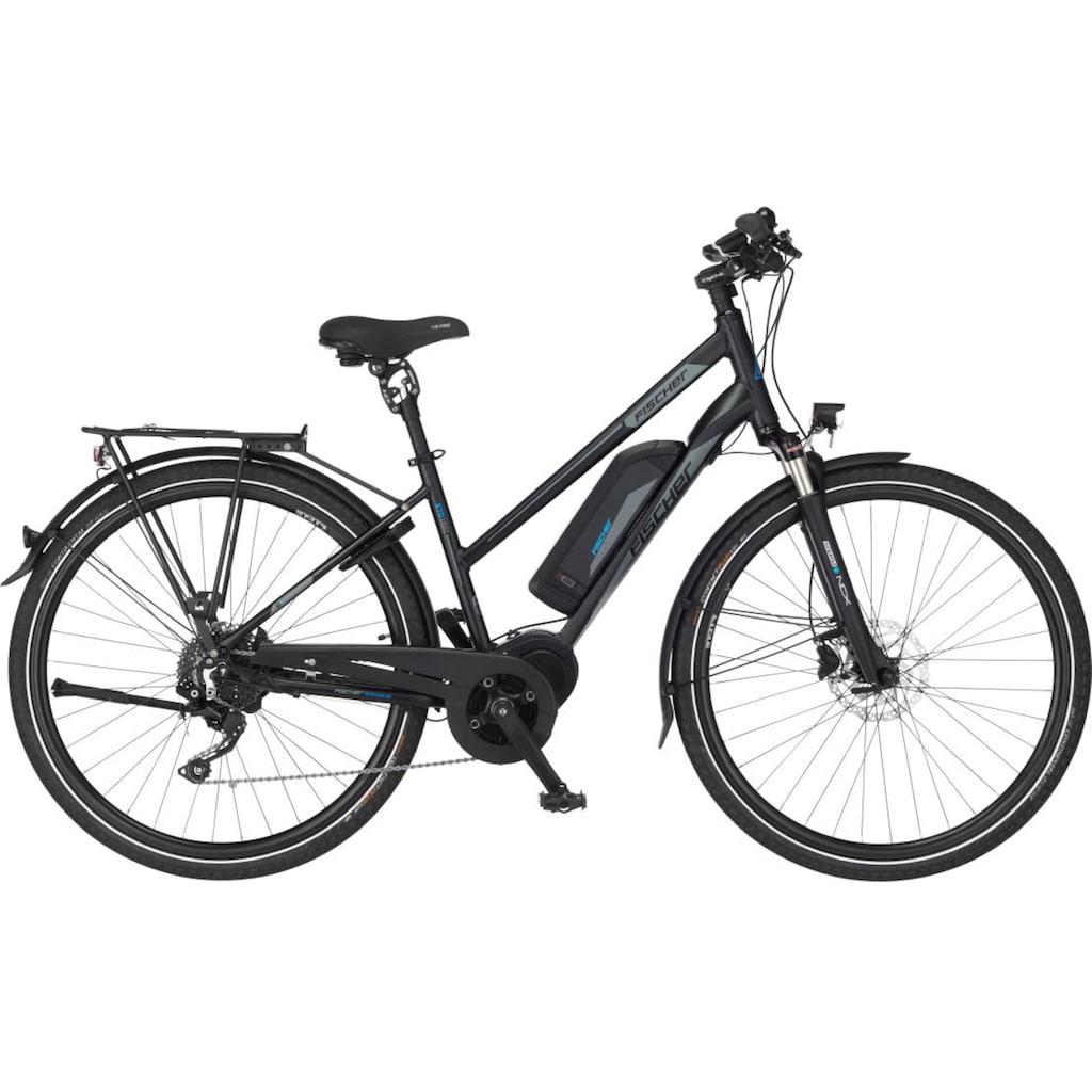 FISCHER Fahrräder E-Bike »ETD 1861.1«, 10 Gang, Shimano, Deore, Mittelmotor 250 W