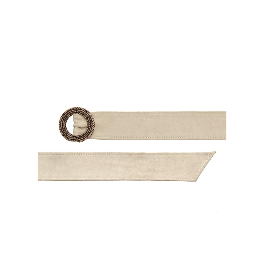 LASCANA Taillengürtel, aus softem Leder mit aufwendiger Zierschnalle