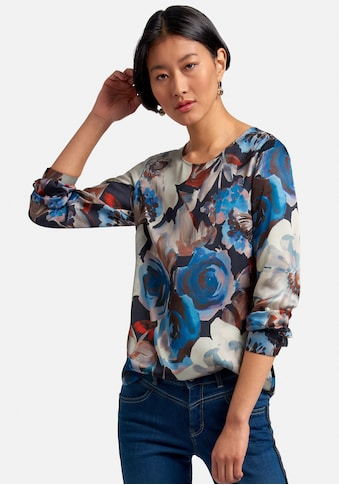 Peter Hahn Langarmbluse »Blusen-Shirt«, mit Knopf im Nacken kaufen