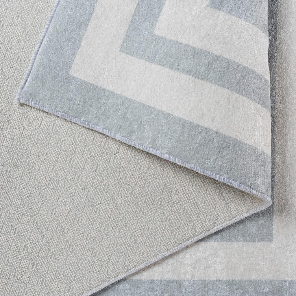 Sehrazat Teppich »Caimas 2970«, rechteckig, 5 mm Höhe, waschbar, weiche Microfaser, Wohnzimmer