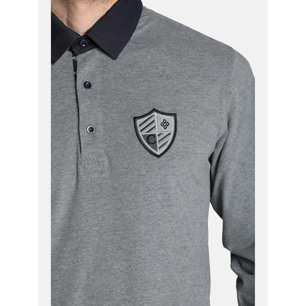 Charles Colby Sweatshirt »CONNOR«, im lässigen Polo-Stil