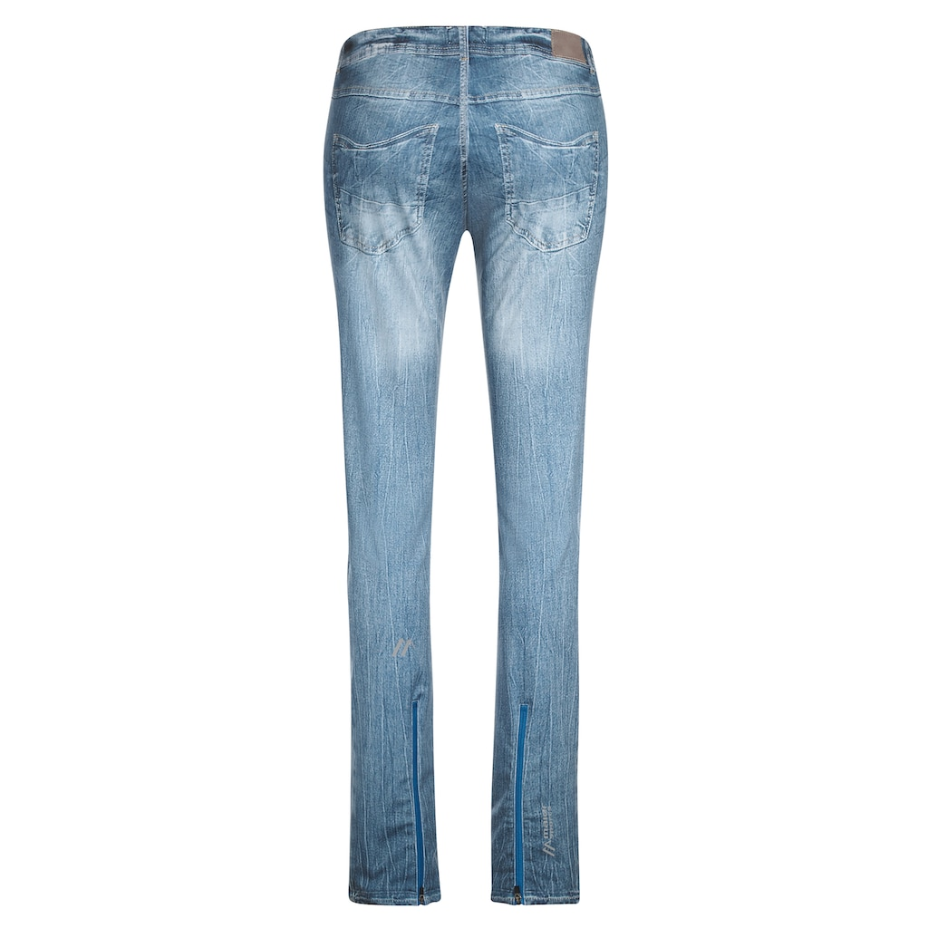 Maier Sports Funktionshose »Sivi«, Jeans-Optik, Softshell, winddicht, figurbetont