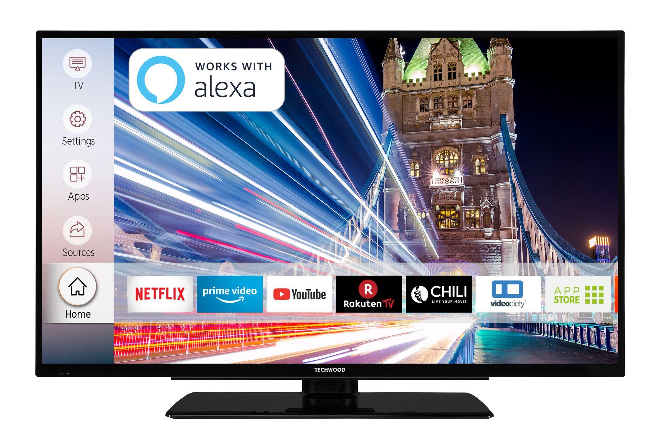 techwood 40 zoll fernseher 4k uhd smart tv triple tuner u40t52c auf raten kaufen. Black Bedroom Furniture Sets. Home Design Ideas