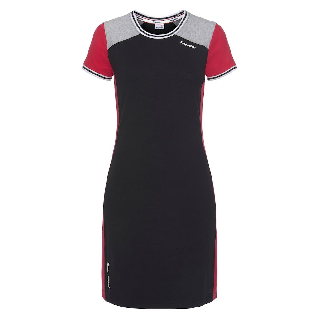 KangaROOS Shirtkleid, mit Colorblocking und Kontrastbündchen