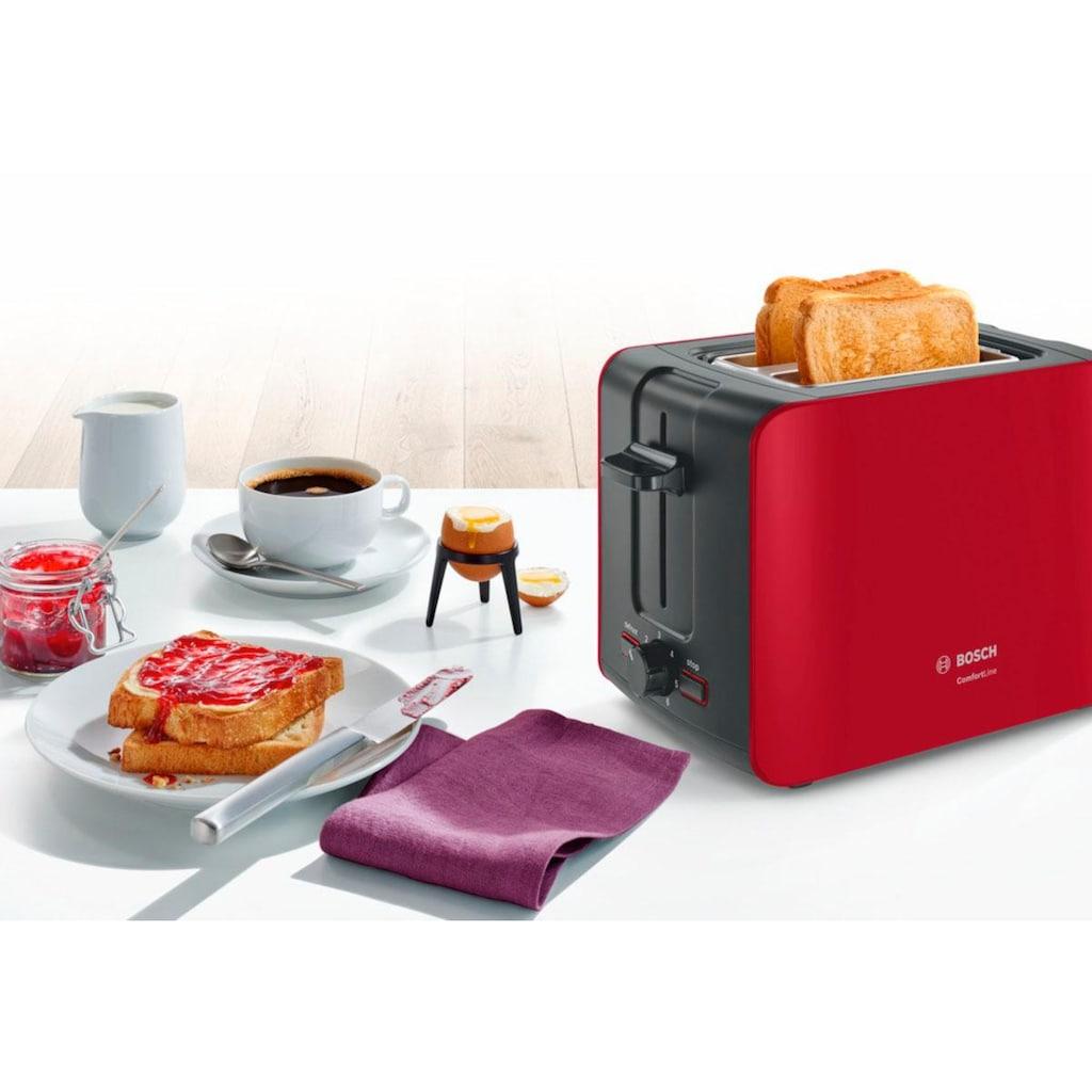 BOSCH Toaster »ComfortLine TAT6A114«, 2 kurze Schlitze, 1090 W