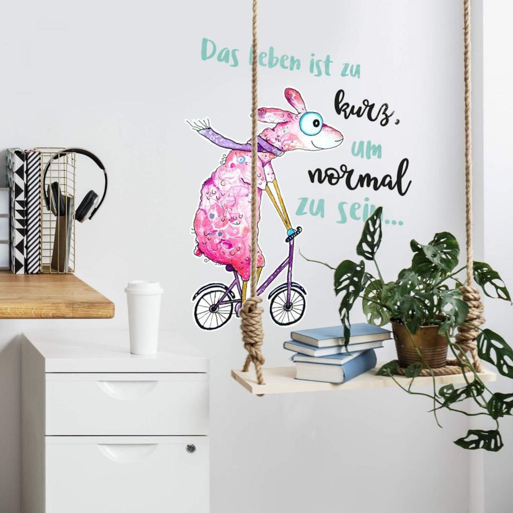 Wall-Art Wandtattoo »Das Leben ist zu kurz Schaf«