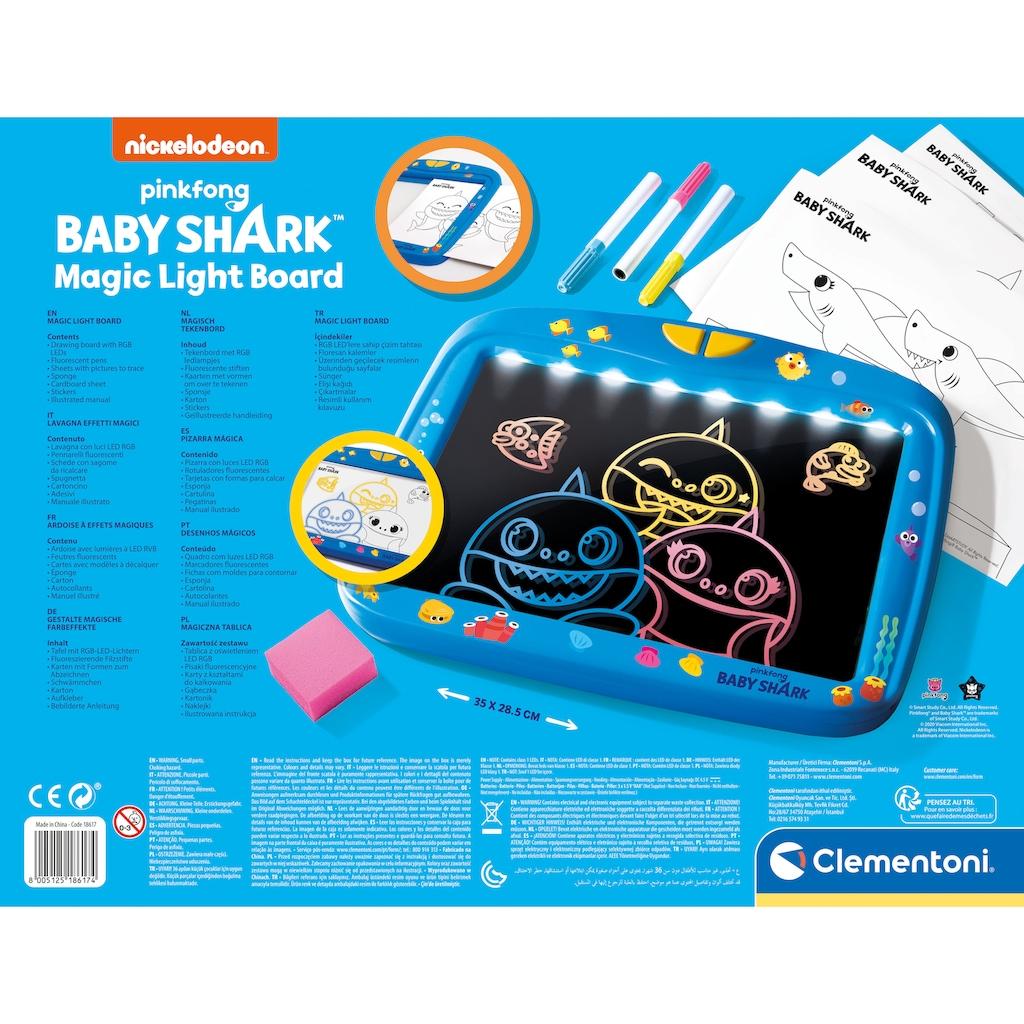 Clementoni® Zaubertafel »Baby Shark - Magische Licht-Tafel«, mit LED-Lichtern