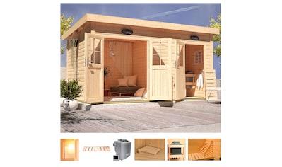 Karibu Saunahaus »Matz«, 9-kW-Bio-Ofen mit ext. Steuerung, Vorraum kaufen