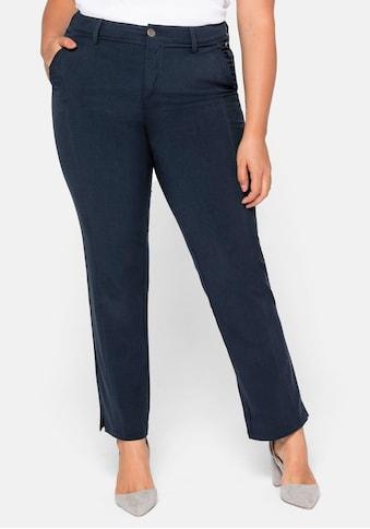 Sheego Stretch-Hose, mit streckender vorverlegter Seitennaht vorn kaufen