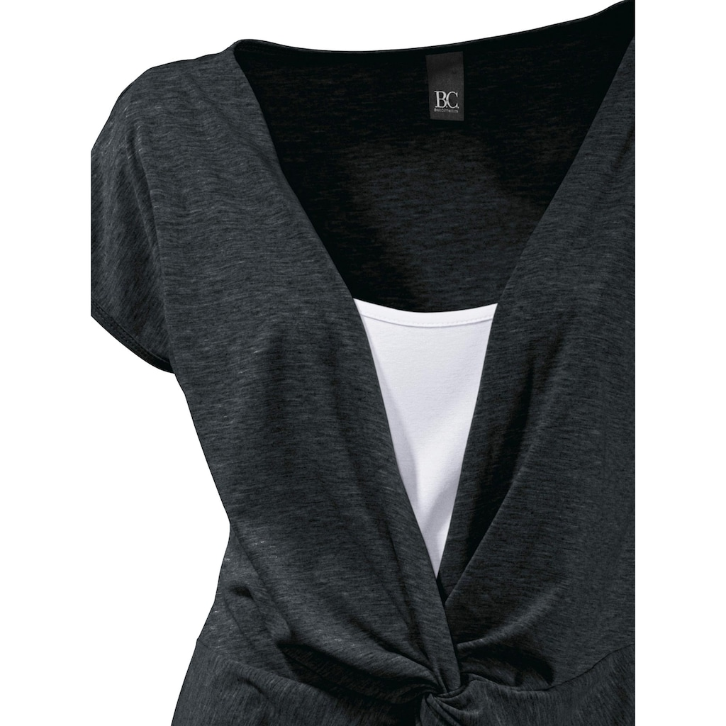Shirt 2 in 1 mit Knotendetail