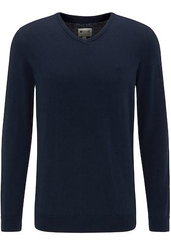 MUSTANG V-Ausschnitt-Pullover »Basic V-Neck Jumper« kaufen