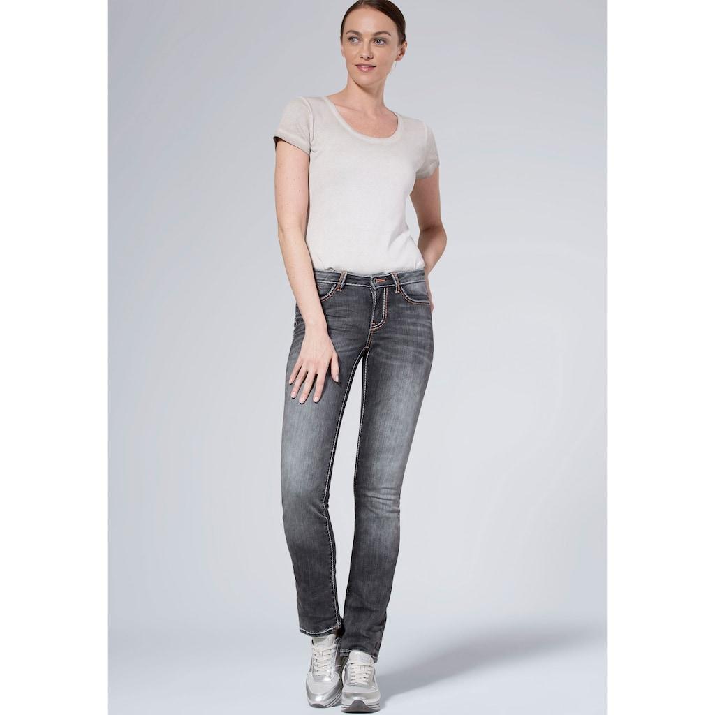 SOCCX Straight-Jeans »RO:MY«, mit auffälligen Deko-Steppnähten