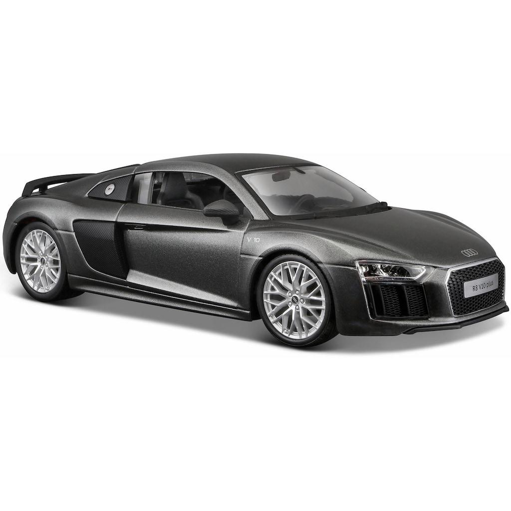 Maisto® Sammlerauto »Audi R8 V10 Plus, 1:24, grau«, 1:24, aus Metallspritzguss
