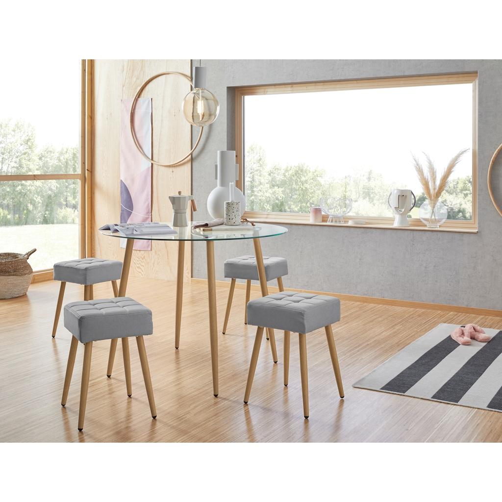 my home Glastisch »Miller«, runder Esstisch mit einem Ø von 100 cm