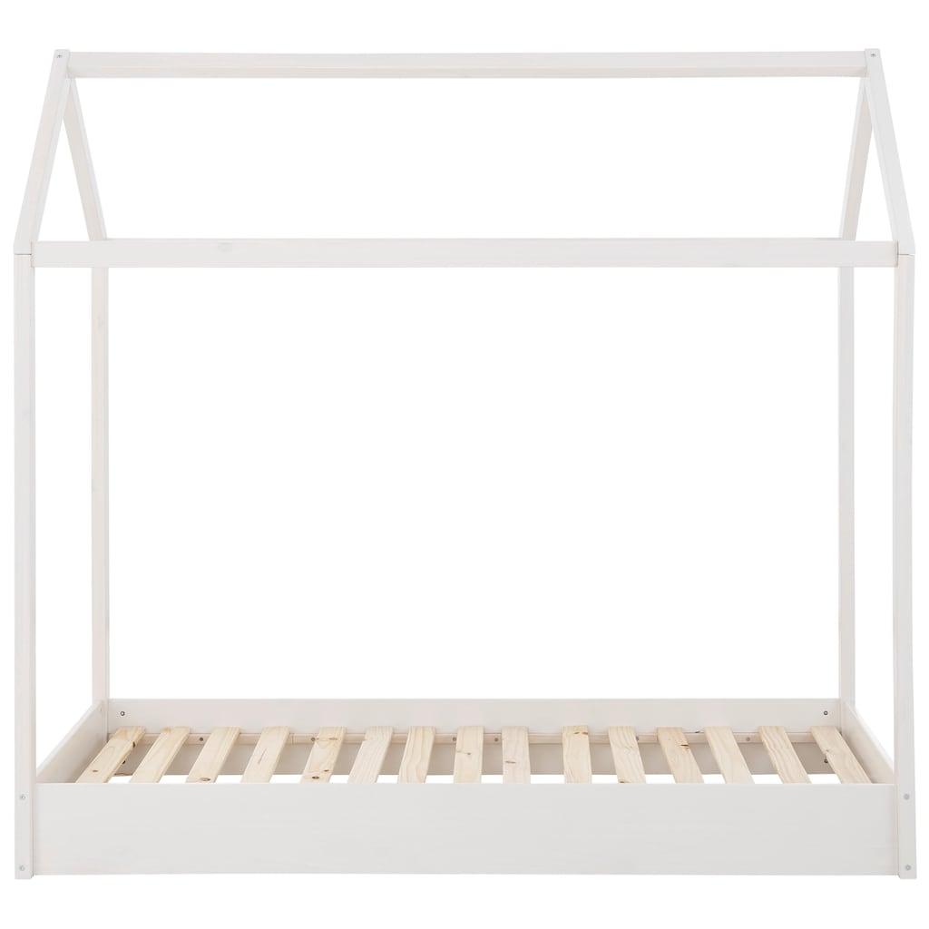 Lüttenhütt Hausbett »Ellen«, aus massivem Kiefernholz, in zwei verschiedenen Farbvarianten erhältlich, Breite 98 cm