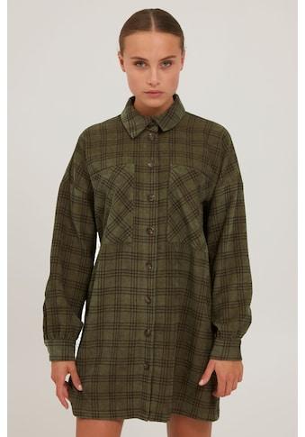 Pulz Jeans Longbluse »PZLAVINDA Long Shirt 50206309«, Karierte Longbluse mit Knopfleiste kaufen