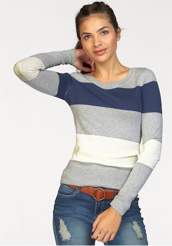 AJC Rundhalspullover, mit breiten Block-Streifen kaufen