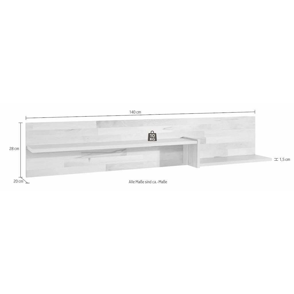 Wandregal, Breite 140 cm