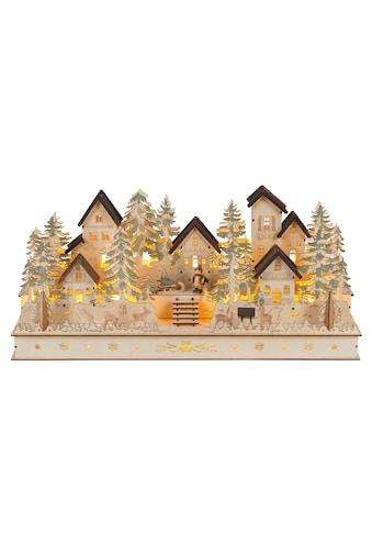 HGD Holz - Glas - Design XL - Weihnachtsdorf mit handgeschnitzten Figuren kaufen