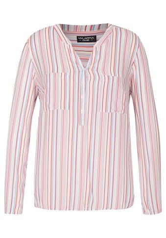 VIA APPIA DUE Fröhliche Bluse mit Streifen-Muster kaufen