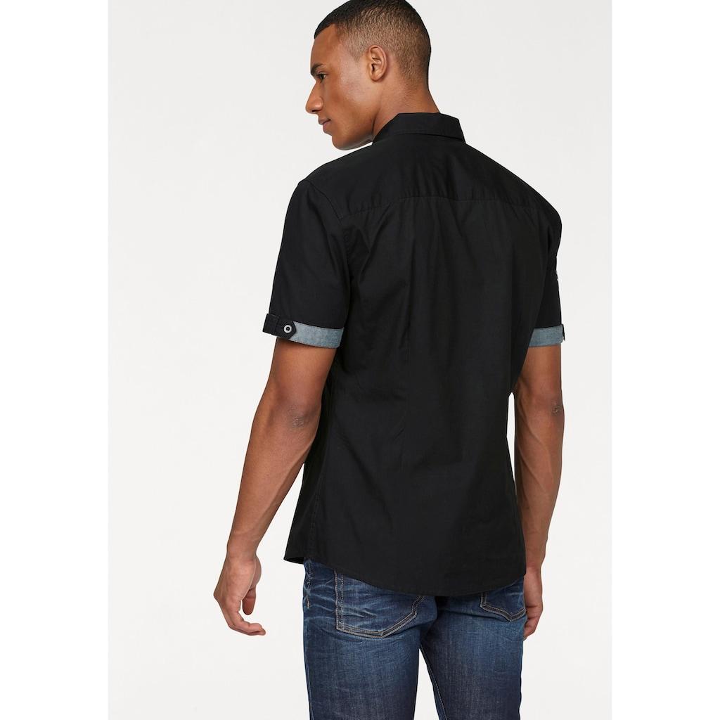 Bruno Banani Kurzarmhemd, mit hochwertigen Stickereien