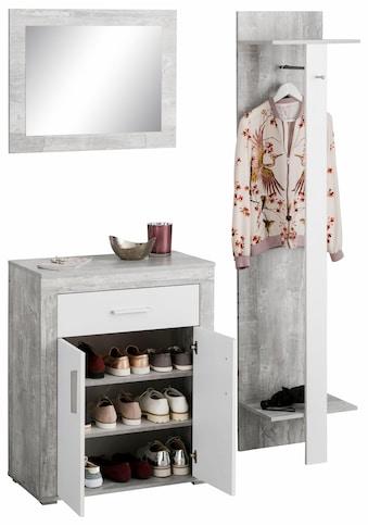 Wilmes Garderoben-Set »Lake«, (Set, 3 St.), mit Stauraum für ca. 15 Paar Schuhe kaufen