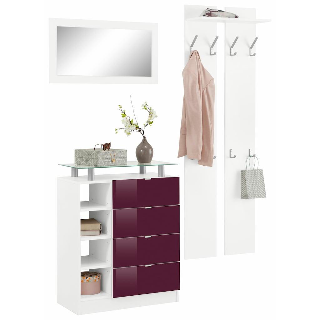 borchardt Möbel Garderoben-Set »Dolly«, (Set, 3 St.), mit Metallgriffen und Hochglanzfronten
