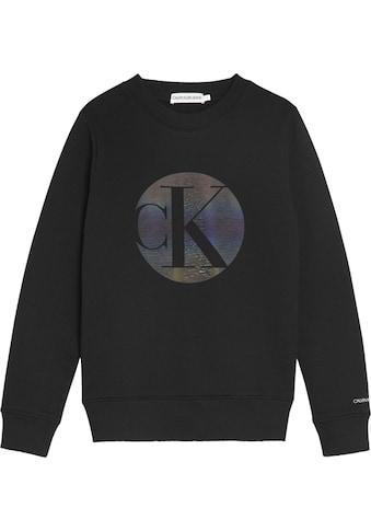 Calvin Klein Jeans Sweatshirt »CIRCLE MONOGRAM SWEATSHIRT«, Mit Glitzerlogodruck kaufen