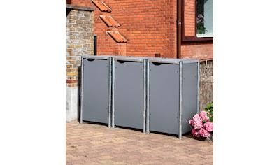 Hide Mülltonnenbox, für 3 x 120 l, grau kaufen