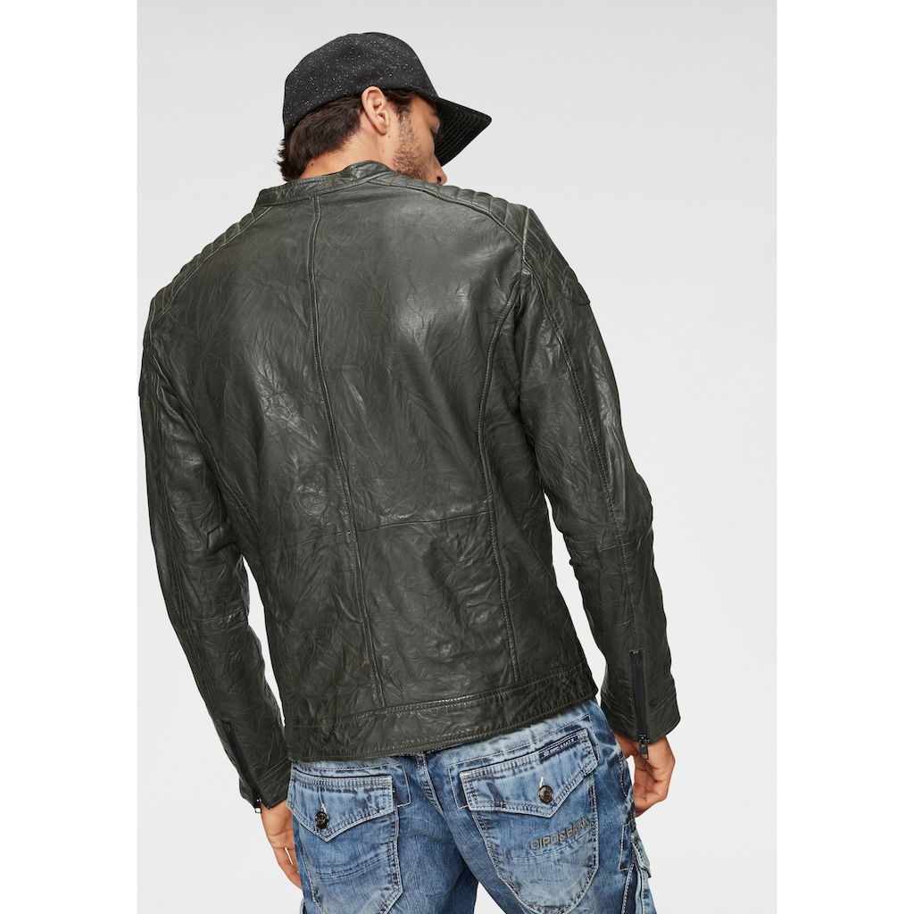 Jack & Jones Lederjacke »Liam Leather Jacket«