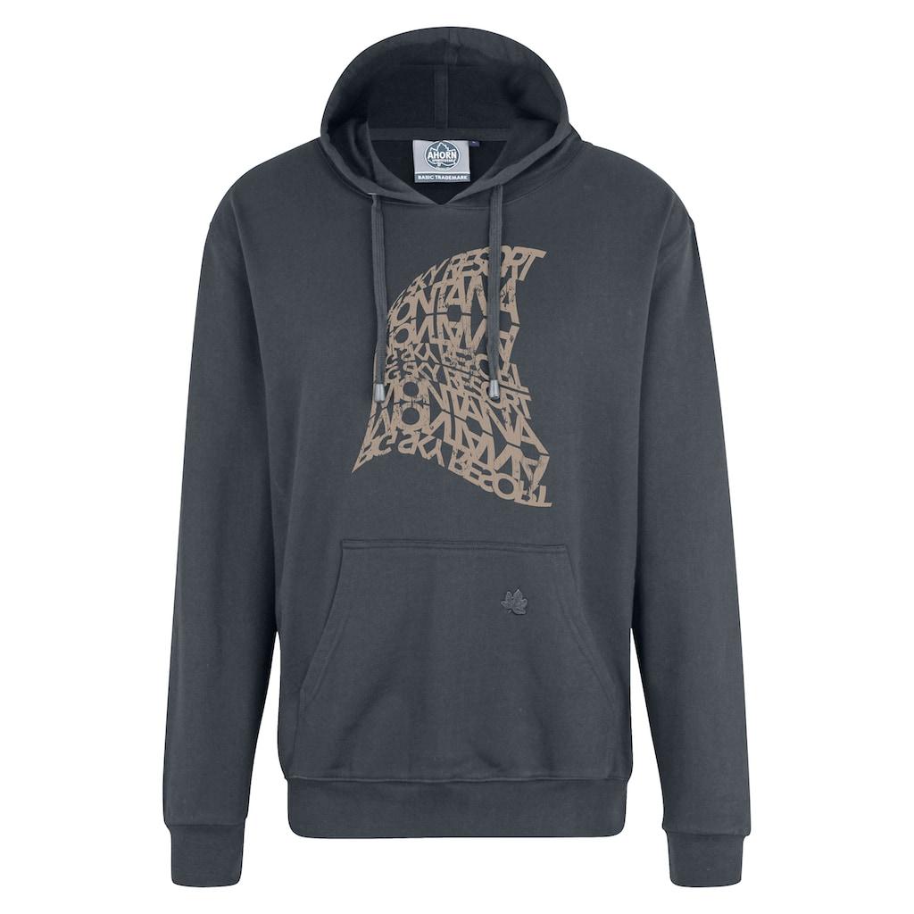 AHORN SPORTSWEAR Kapuzensweatshirt, mit modischem Frontdruck