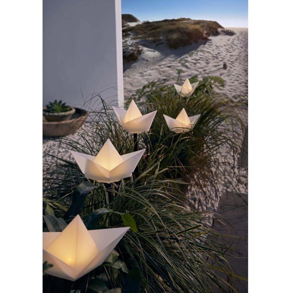 Gartenleuchte »Solarleuchte Boote«, Warmweiß, Gartenstecker
