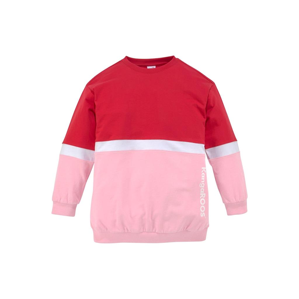 KangaROOS Sweatshirt, sehr weite Form mit Logodruck