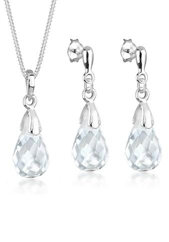 Elli Schmuckset »Tropfen Bergkristall 925 Sterling Silber« kaufen