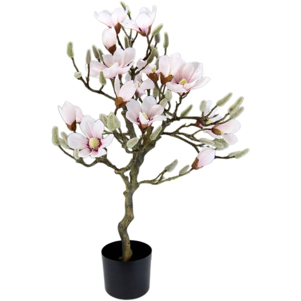 I.GE.A. Kunstbaum »Magnolienbaum«, im Kunststofftopf