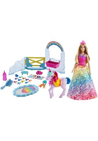 Barbie Anziehpuppe »Dreamtopia Prinzessin«, (Set), inkl. Einhorn mit Farbwechsel kaufen