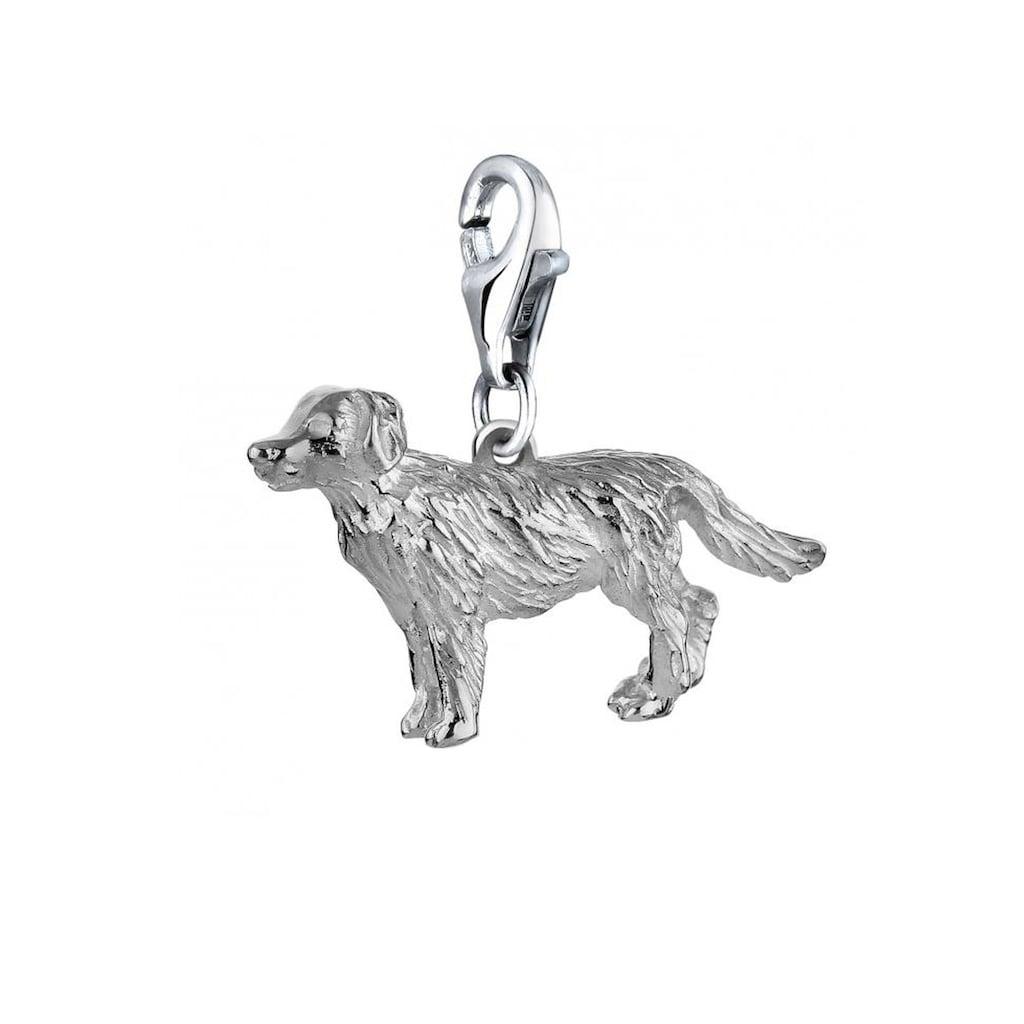 Nenalina Charm-Einhänger »Hund Dog Anhänger Golden Retriever 925 Silber«